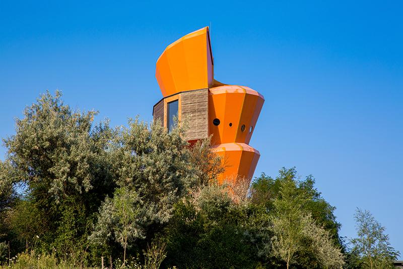 Aussichtsturm in Form einer Turmschnecke